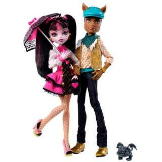Monster High Draculaura And Clawd Wolf Doll Giftset Toys
