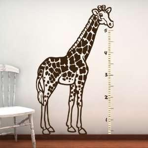 Giraffe Wall Decal, Kids GROWTH CHART, Vinyl Sticker