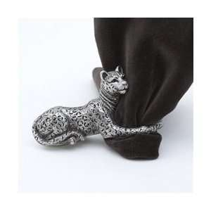 LObjet Platinum Jaguar Napkin Rings Set/4