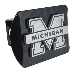Trailer Hitch Cover Chrome Metal with NCAA Logo Fits 2 Receivers