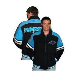 Carolina Panthers NFL Suede Logo Jacket, Size Large