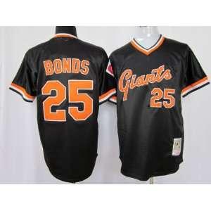 San Francisco Giants 25# Bonds Black M&n 2011 MLB Authentic Jerseys