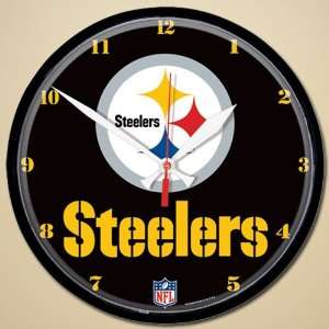 NFL Pittsburgh Steelers 12 Round Wall Clock  Sports