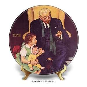 Norman Rockwell Doctor And Doll Collector Plate by The