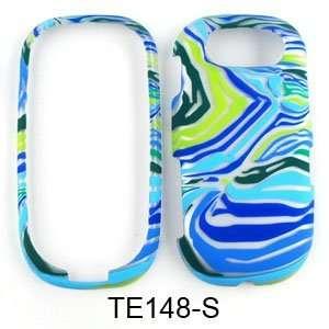 Pantech Ease P2020 Blue/Green Zebra Print Hard Case,Cover,Faceplate