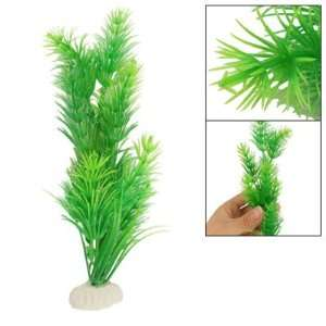 Como Fish Tank Aquarium Decor 7.9 High Green Plastic
