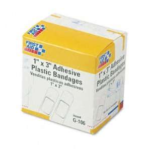 New   Plastic Adhesive Bandages,1 x 3, 100/Box   G106