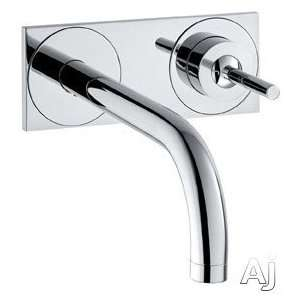 Wall Mounted Single Handle Lav Set, With Base Plate   Brushed Nickel