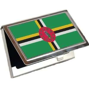 Dominica Flag Business Card Holder