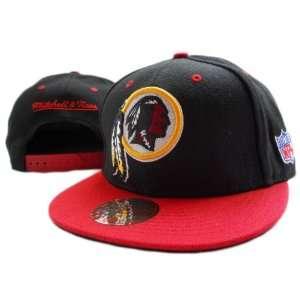 NFL Washington Red Skins Mitchell Ness Black Hat  Sports
