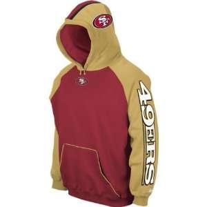 Men`s San Francisco 49ers End Zone Team Helmet Hooded Sweatshirt