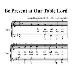 Be Present At Our Table Lord Easy Piano Sheet Music Christian Books