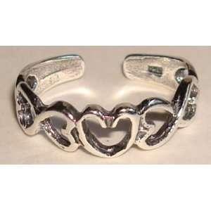 Sterling Silver Open Heart Toe Ring