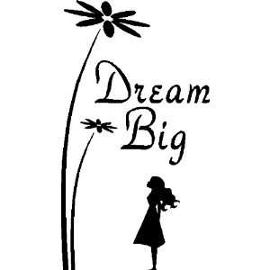 DREAM BIG.WALL SAYINGS CHILDRENS QUOTES WALL DECOR ART
