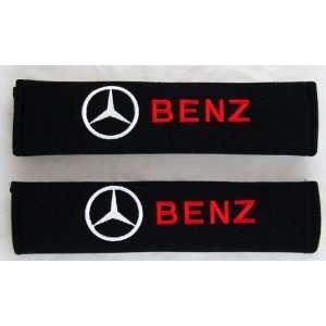 Benz Car Seat Belt Covers Shoulder Pads Pair Automotive