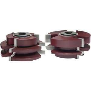 Katana Round Over Matched Rail and Stile Shaper Cutter, 2 Piece Set
