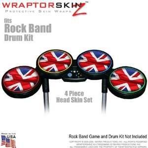 Union Jack 01 Skin by WraptorSkinz fits Rock Band Drum Set