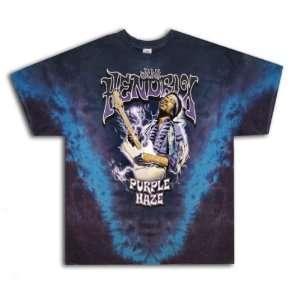 JIMI HENDRIX PURPLE HAZE Vintage Tie Dye Rock Band T Shirt 3X 3XL XXXL