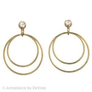 Annaleece Crystal Jewelry Stylish, Gold   Earrings
