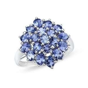 2 1/3 Carat Tanzanite 14K White Gold Ring Jewelry