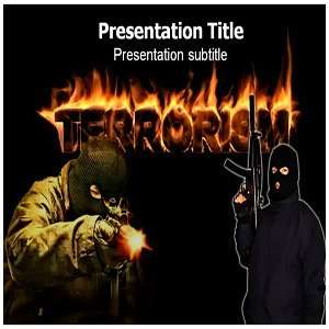 Powerpoint Templates   Terrorism (PPT) Powerpoint Background Template