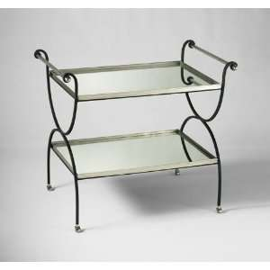 Cyan Design 04000 Silver And Black Two Tier Table