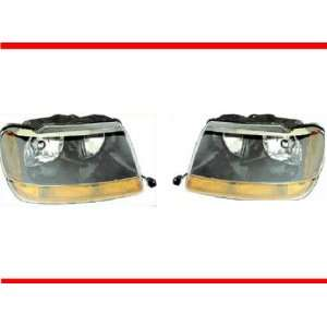 1999 2004 JEEP GRAND CHEROKEE LAREDO Headlight Set LH Driver and RH