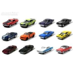 Set of 12 Muscle Car Garage Stock & Custom 1/64 Series 6: Toys & Games