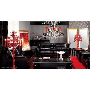 Ermine Leather Black Sofa Set   AX021