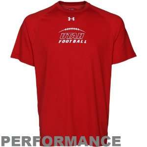 Under Armor Utah Utes Football Tech Performance T Shirt