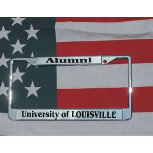 University of Louisville Chrome Laser Engraved License Plate