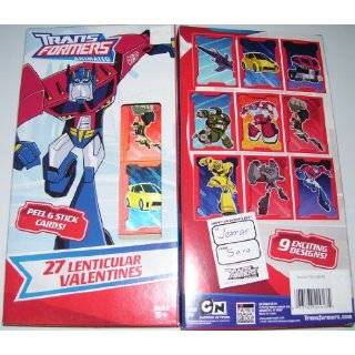 Transformers 27 Lenticular Holgraphic Valentines Day Cards