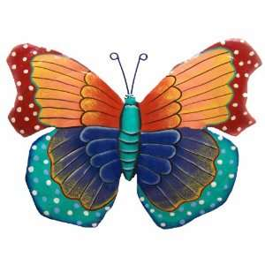 7 Butterfly Tropical Haitian Metal Art Home Room Yard
