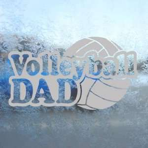 Volleyball Dad Gray Decal Car Truck Bumper Window Gray