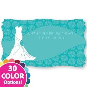 Custom Wedding Dress   Set of 8 Bridal Shower Personalized
