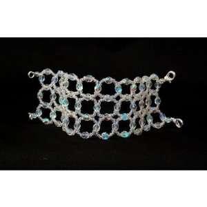MOD Cuff Bracelet, clear a/b crystals, Bridal Wedding Prom
