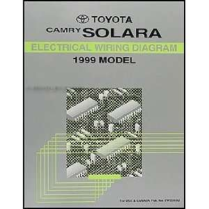 1999 Toyota Camry Solara Wiring Diagram Manual Original Toyota Books