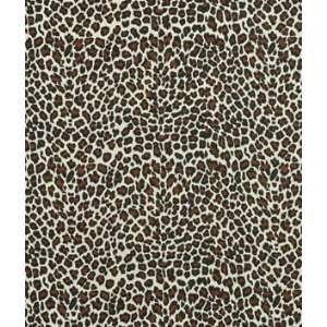 Leopard on Natural Linen Print Fabric: Arts, Crafts
