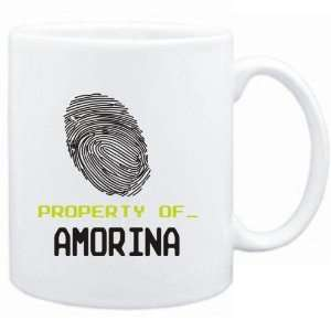 Mug White  Property of _ Amorina   Fingerprint  Female