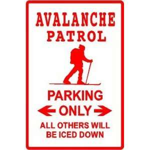 AVALANCHE PARKING rescue ski disaster sign Home & Kitchen