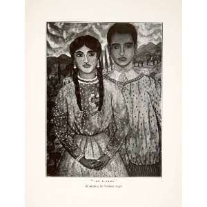 Mexico Portrait Lovers Couple Man Woman Formal Partners Abraham Angle