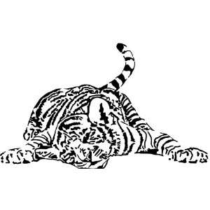 Sleeping Tiger Vinyl Wall Art Decal