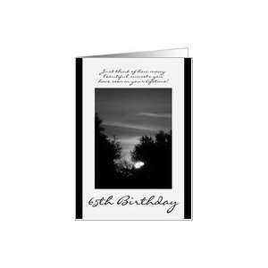 65th Birthday, black & white sunset Card: Toys & Games
