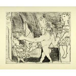 Pablo Picasso Blind Minotaur Led by Girl with Dove Mythological Beast