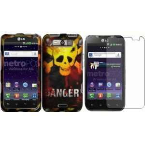 Danger Design Hard Case Cover+LCD Screen Protector for LG