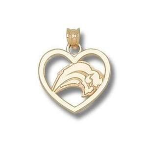 Buffalo Sabres New Buffalo Logo Heart Charm/Pendant