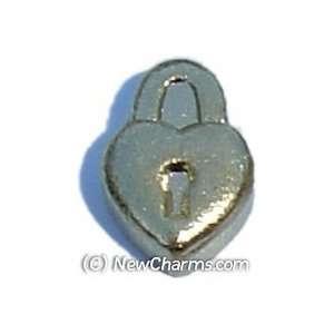 Heart Lock Floating Locket Charm