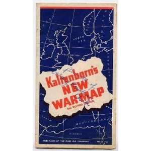 H V Kaltenborns New War Map 3rd edition Pure Oil Co