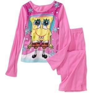 (2) Pair Set Girls 2 Piece Fleece Pajama Set, Sizes 7/8