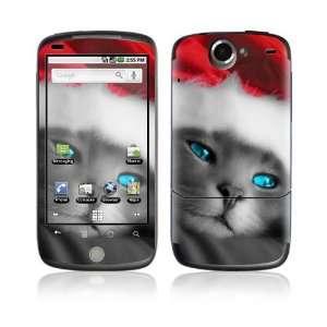 HTC Google Nexus One Decal Skin   Christmas Kitty Cat